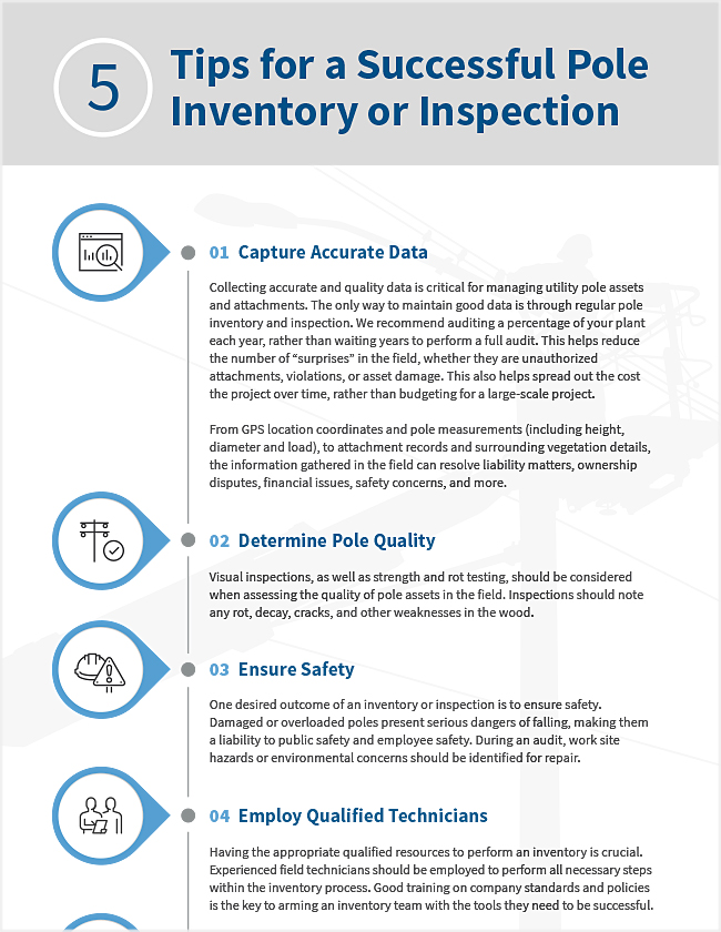 5 Tips for a Successful Pole Inventory or Inspection Tip Sheet