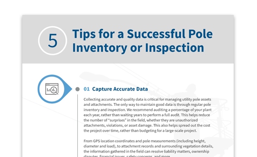 5 Tips for a Successful Pole Inventory or Inspection