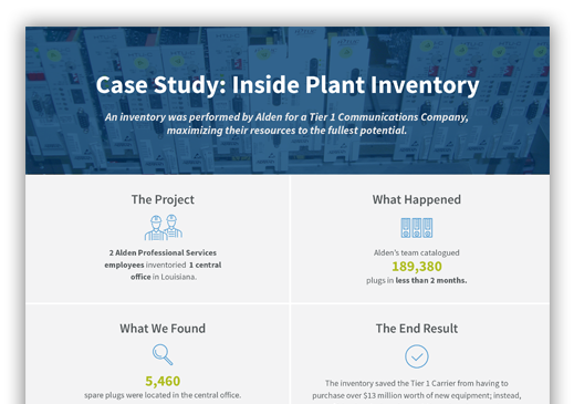 Case Study: Inside Plant Inventory