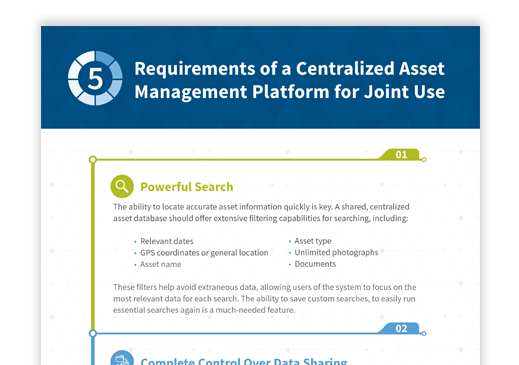 5 Requirements of a Centralized Asset Management Platform for Joint Use