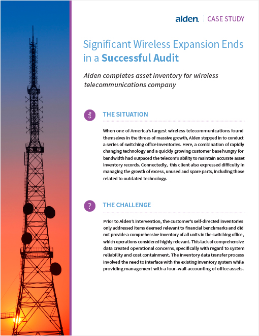 Alden Significant Wireless Expansion Ends in Successful Audit Page 1