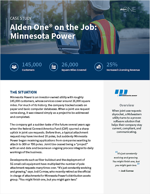 Alden One® on the Job: Minnesota Power Page 1